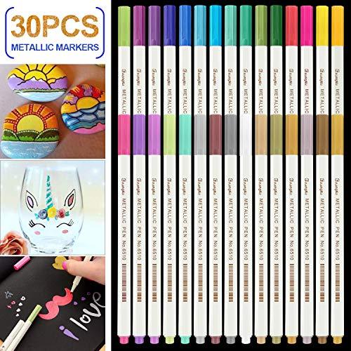 Rotuladores Metálicos,RATEL 30 colores brillantes