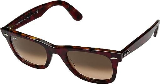 Top Transparent Red/Orange Havana/Pink Gradient Brown