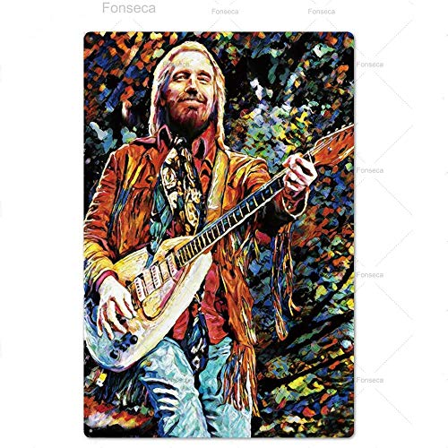 keletop Music Metal Poster Plaque Metal Vintage Rock N Rool Metal Sign Tin Sign Wall Decor for Bar Pub Club Man Cave Iron Painting 20 * 30cm