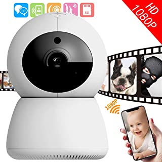 I-STAR Wireless 1080P Security Camera, WiFi Home Surveillance IP Camera for Baby/Elder/Pet/Nanny Monitor, Pan/Tilt, Two-Way Audio & Night Vision Q3-S