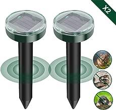 protecci/ón IP56 para el jard/ín 2 Unidades de ahuyentador Solar ultras/ónico para Topos ZEBRAFI Repelente de Topos