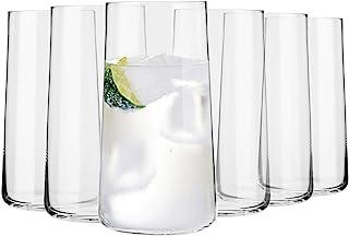 Krosno Grande Vasos de Agua Highball | Set 6 Piezas | 540 ML