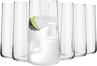 KROSNO Tall Water Juice Drinking Glasses | Set of 6 | 18.3 oz | Avant-Garde Collection | Highball & Tumbler Crystal Glass...