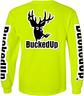 BuckedUp Long Sleeve Safety Green with White Logo