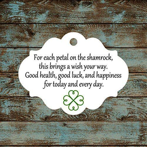 Irish Blessing Favor Tags, Qty: 30 Tags #605