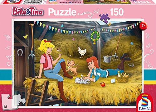 Schmidt Spiele 56188 Bibi & Tina Bibi und Tina, Auf dem Heuboden, 150 Teile Kinderpuzzle