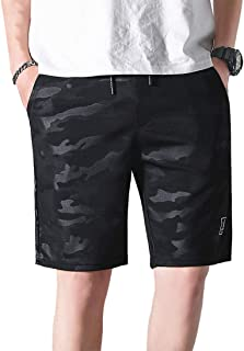 Zhhlaixing Men's Casual Shorts Casual Sports Joggers Shorts Half Pant Comfort Stretch with Elastic Waist Plus Size