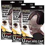 (3 Pack) Qfitt - Side Parting U-Part Wig Cap with Lace #5016 by Qfitt