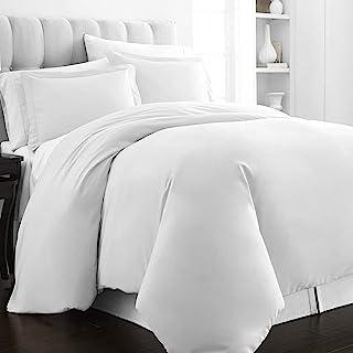 Pizuna 400 Thread Count Cotton-Duvet-Cover-Set King White, Soft Luxurious Satin 100% Long Staple Cotton White Duvet Cover ...