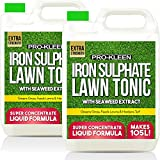 Pro-Kleen Lawn Tonic Liquid Iron Sulphate Quality Ferrous Conditioner, Fertiliser, Grass Greener, Turf