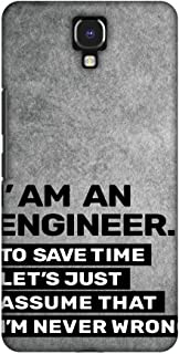 AMZER Handcrafted Designer Printed Slim Snap on Case - Infinix Note 4 - Proud to Be A Engineer 3
