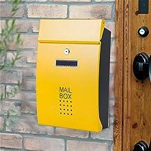 ZHYLing Wandgemonteerde brievenbus Verticale vergrendeling Drop MailBox Voorveranda Residentiële Outdoor Voor Postservice ...