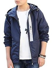Bevalsaキッズ ジャケット 秋 トレンチコート 男の子 子供服 ジュニア ウインドブレーカー ロング パーカー スプリングコート