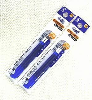 Pilot Frixion Ball Slim Gel Ink Pen Refill-0.38mm-blue-pack of 3x2pack Value Set