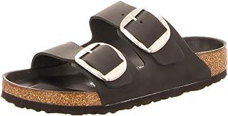 Birkenstock Arizona Oiled Leather Black Big Buckle Sandals/Slides Women