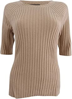 Women's Cashmere Ribbed Crewneck Misses