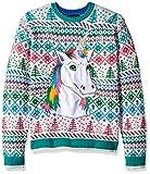 Blizzard Bay Men's Winter Unicorn Ugly Christmas Sweater, multi, Small