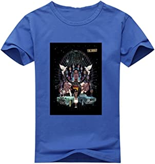 Zeesaa Men's Blue Generic Cotton Big Krit Return of 4Eva T-Shirt