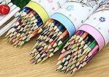 MINGZE - Matite colorate a 48 colori, con nucleo morbido, pre-affilate, per libri da colorare per adulti, schizzi, progetti creativi