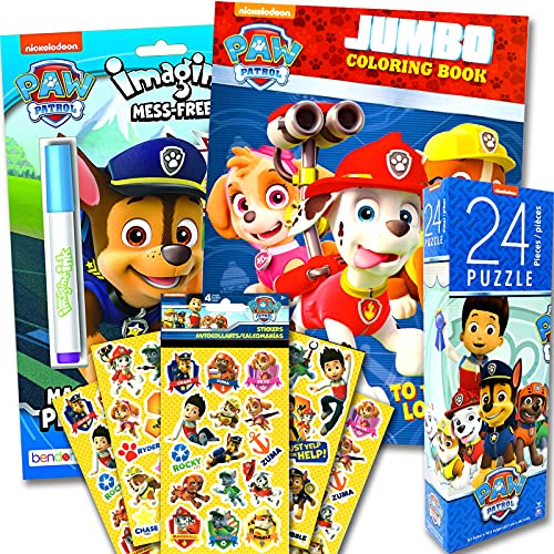 Paw Patrol Coloring Book and Activity Play Set with Puzzle and More