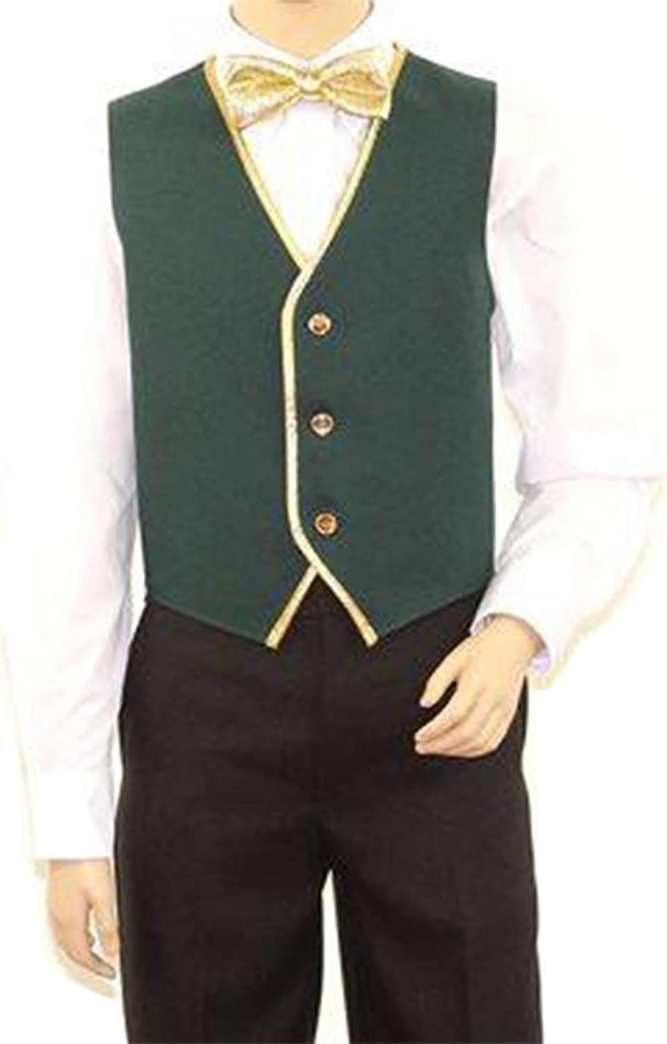 SixStarUniforms Kids Full Back Dress Vest with Gold Trim