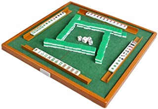 Goolfly Mini Mahjong Set with Folding Mahjong Table Portable Mah Jong Game Set For Travel Family Leisure Time Indoor Enter...