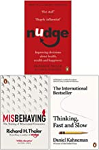 Nudge, Misbehaving, Thinking, Fast and Slow 3 Books Collection Set