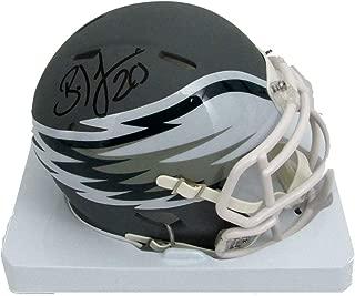Brian Dawkins Autographed Mini Helmet - AMP Silver Matte 146966 - JSA Certified - Autographed NFL Mini Helmets