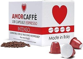 comprar comparacion Amorcaffe 100 Cápsulas de Café Compatibles con Máquinas Nespresso - Intenso