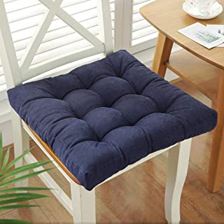 fgdsa Solid Color Office Chair Cushion Corduroy Seat Pad Soft Warm Sofa Pad Dining Chair Cushion Thicken Reversible Use-g 50x50cm(20x20inch)