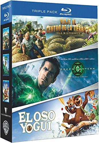 Viaje Al Centro De La Tierra 2 + Linterna Verde + El Oso Yogui (Pack 3 Discos) [Blu-ray]