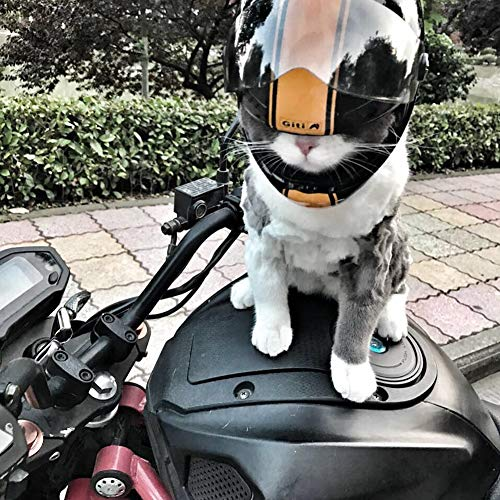 Welpe Katze und Hund Haustier Mini Helm, Outdoor-Sport Kopfschutzausrüstung Helm Haustier Sonnenschirm Hut Fahrrad Haustier Integralhelm