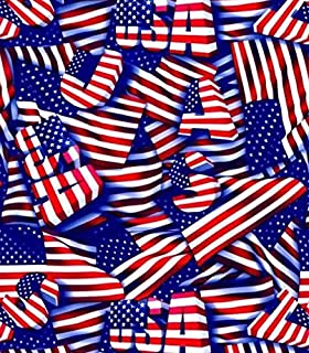 Hydrographic Film - Hydro Dip Film - Hydrographics Film - Water Transfer Printing - Hydro Dipping - USA Flag Small - 1 Sq. Meter