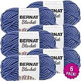 Bernat Navy, Blanket Yarn, Multipack of 6, 6 Pack