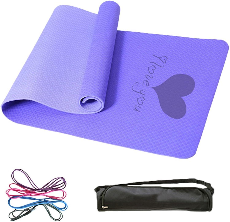 HCJYJD Yogamatten, Verdicken Verlngern Rutschfest Geschmacklos Umweltschutz Fitnessmatte Trainingsmatte (Farbe    7, gre   8mm)