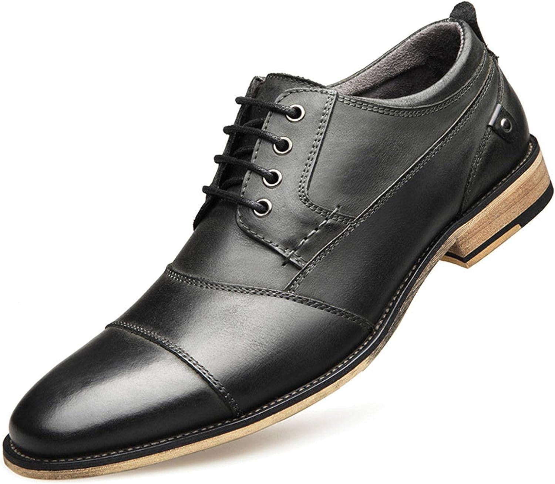 NC Men Casual Shoes Oxfords Men Genuine Leather Dress Shoes Business Formal Shoes Men Flats Plus Size Wedding Party