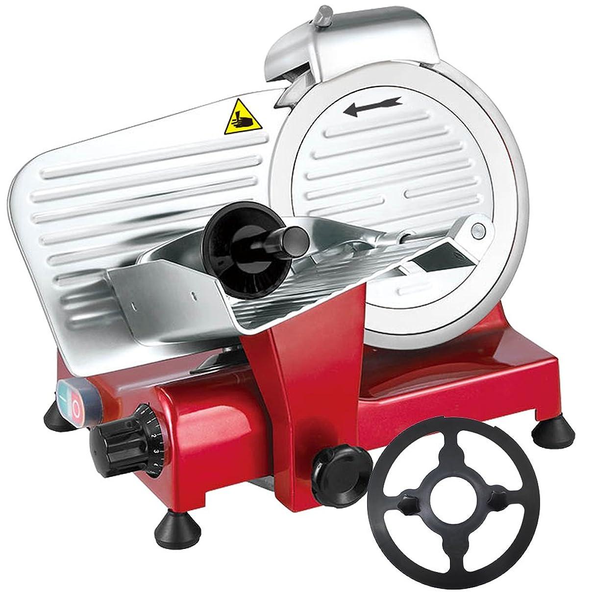 焼くシマウマ守る業務用ミートスライサー PRO-220YS-B(赤) 肉スライサー