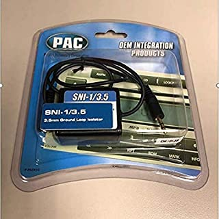 PAC SNI-1/3.5 3.5-mm Ground Loop Noise Isolator Works with iPod/Zune/iRiver and Others,Black