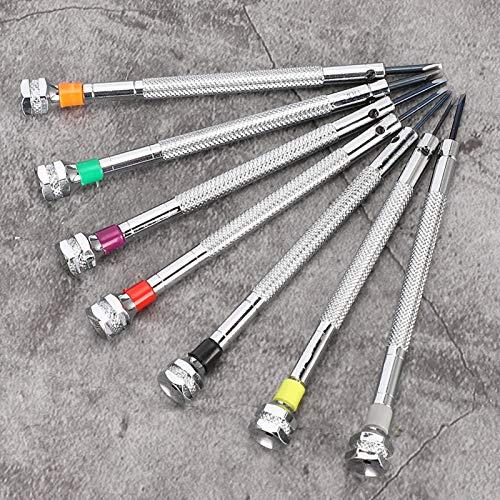 Wosune Juego de Destornilladores, Destornilladores de relojero, Herramientas de reparación de Relojes para proyectos de Bricolaje Reparación de Gafas de Sol