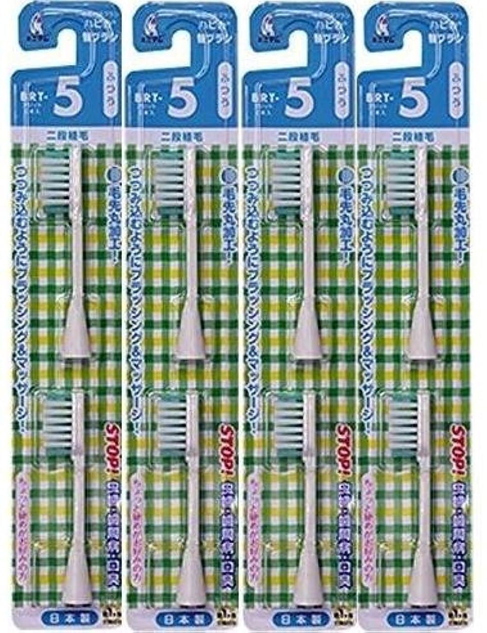 外側マントル磁石電動歯ブラシ ハピカ専用替ブラシふつう 2段植毛2本入(BRT-5T)×4個セット