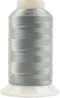 WonderFil, Specialty Threads, InvisaFil, 2-Ply Cottonized Soft Polyester, Silk-Like Thread for Fine Sewing, 100wt - Grey, 2500m