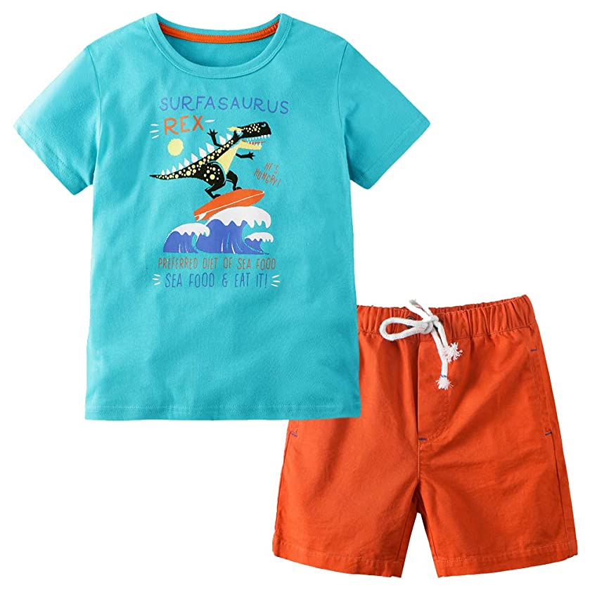Frogwill Toddler Boys Shorts Set Outfits Summer Cloths 2 Pieces 2-7Y