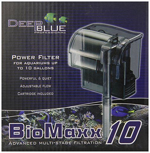 Deep Blue Professional ADB88701 Biomaxx Power Filter for Aquarium, 10-Gallon