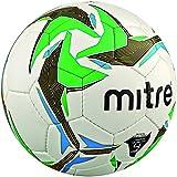 Mitre Nebula - Pallone da calcio, Bianco (White/Black/Green), Misura 4
