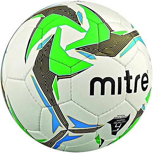 Mitre Nebula Match Indoor Futsalball, White/Black/Green, Size 4