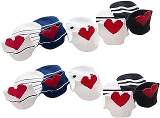 Hosaire 5 Pares Calcetines algod/ón Amor Rojo Tridimensional Beb/é Ni/ños Ni/ñas Mancha Negra Raya Calcetines Tobilleros Calcetines Planos Antideslizante Casual Calcetines Transpirables