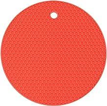 SHUJINGNCE Accessoires de Cuisine 18cm Rond Ronds résistant à la Chaleur Tapis de Silicone Coaster Tapis antidérapant Tapi...