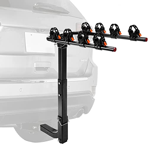 """popular 4 Bike Rack Bicycle Carrier, Racks Hitch Mount Double discount Foldable Rack high quality for Cars, Trucks, SUV's and minivans with a 2"""" Hitch Receiver -TLBCR1A sale"""