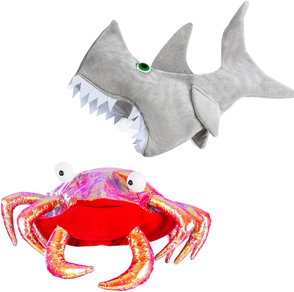 Tigerdoe New York Mall Crab and Quality inspection Shark Hat - Creature Sea Fish Costume Cr Silly