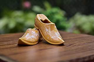 Pelican Crafts - Shoe Shape Ceramic Ashtray - Handcrafted - Miniature - Small Planter for Home Decoration (Pair of 2, Oran...